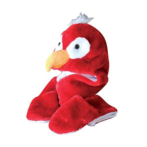 Mememall Fashion Red Parrot Winter Plush Comfy Warm Hat Long Flaps with Mittens Scarf Beanie (Kids Union Officer Hat)