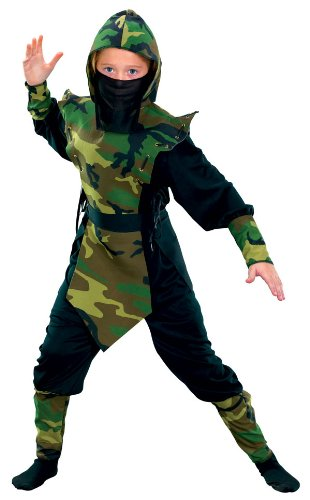 Cammo Ninja Costume Boy - Child Medium