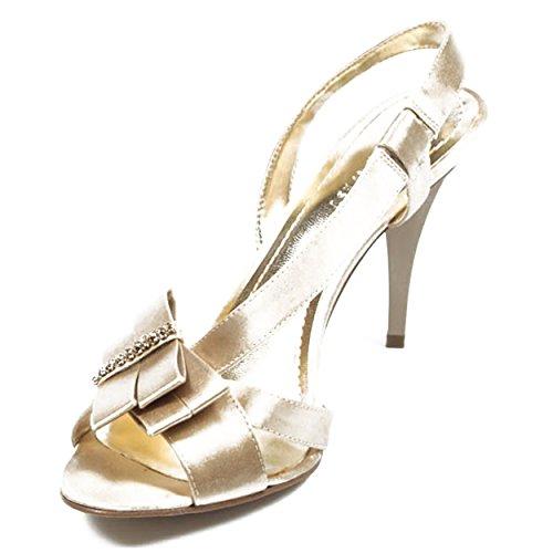NINE WEST - Damenschlinge Zurück Sandalen NWELSIA LIGHT GOLD Hacke: 9 cm