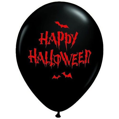 Qualatexラテックスバルーン40164 Haunted Halloween Bats、11インチ、マルチカラー   B075Q7H15R