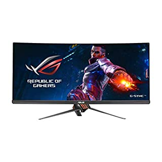 "ASUS ROG Swift PG348Q 34"" Gaming Monitor Curved Ultra-Wide 3440x1440 100Hz IPS DisplayPort USB Eye Care G-SYNC (B01C83BE6U) 