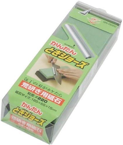 エビ印 研ぎ補助具付角砥石 かんたん とぎジョーズ #220 QA-0220
