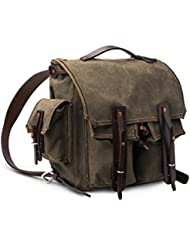 Mountainback 5 Pocket Canvas Backpack by Saddleback Leather – Best 24 oz Scottish Waxed Canvas Backpack for School...