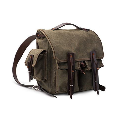 Mountainback 5 Pocket Canvas Backpack by Saddleback Leather – Best 24 oz Scottish Waxed Canvas Backpack for School, Business or Travel - 100 Year Warranty by Saddleback Leather Co.