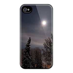 Defender Case For Iphone 4/4s, Nature Snow Moon Pattern