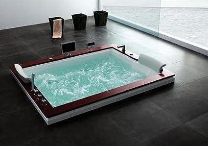 Diana 666 con calentador de agua – Whirlpool dos persona moderna bañera con total 37 chorros