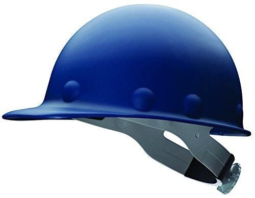 Fibre-Metal P2A Hard Hat with 8-Point Ratchet Suspension, Injection Molded Fiberglass, Blue ()