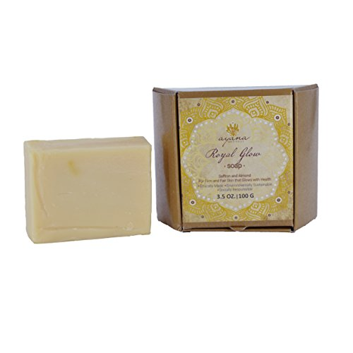 Ayana Wellness 'Royal Glow' Bar Soap - Handcrafted Artisan Organic Soap   Fancy Soaps Individually Wrapped & Ethically Made   Luxurious All Natural Face & Body Cleanser   No Artificial Dyes ()