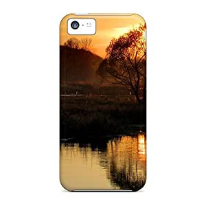 CaroleSignorile Fashion Protective Sun Sets Into The Tree Cases Covers For Iphone 5c