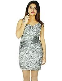 Women Party Wear Dress Short Length Casual Fashion Evening Summer Tunic