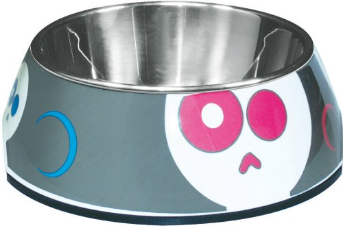 Dogit Style 2-in-1 Dog Bowl, Animated Skulls, Small