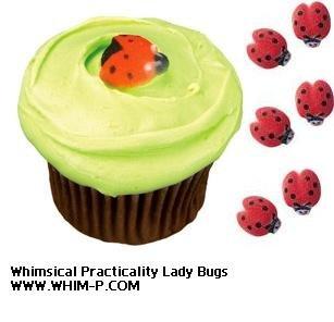 Lucks Ladybug Sugar Decorations Dec-on for Cupcakes Cakes decorations 48 Pk ()
