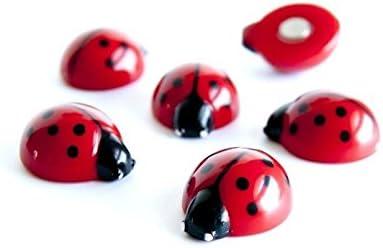 6 x Kühlschrankmagnete Ladybug 20x17x10mm Magnete für Pinnwand Magnettafel - Magnete für Kühlschrank, Magnetboard, Kinder Magnetwand, Tiermagnete