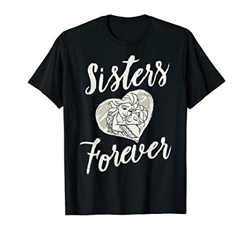 Disney Frozen Elsa Anna Sisters Forever Heart Graphic Tee ()