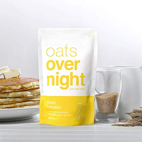 Oats Overnight Plant Based 3 Pack with BlenderBottle - Premium High-Protein, Low-Sugar, Gluten-Free (2.6oz per pack) by Oats Overnight (Image #2)