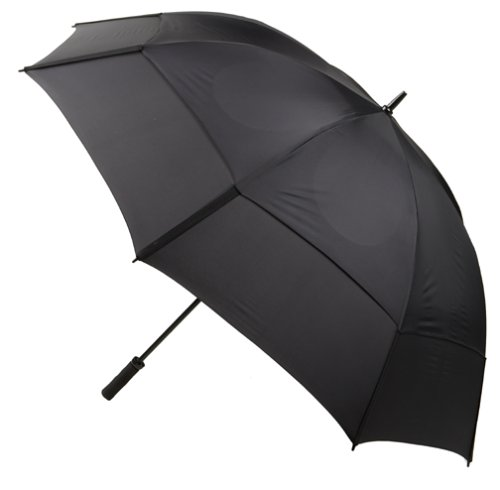 GustBuster Proseries Gold 68-Inch Style 3 Golf Umbrella (Black) (68