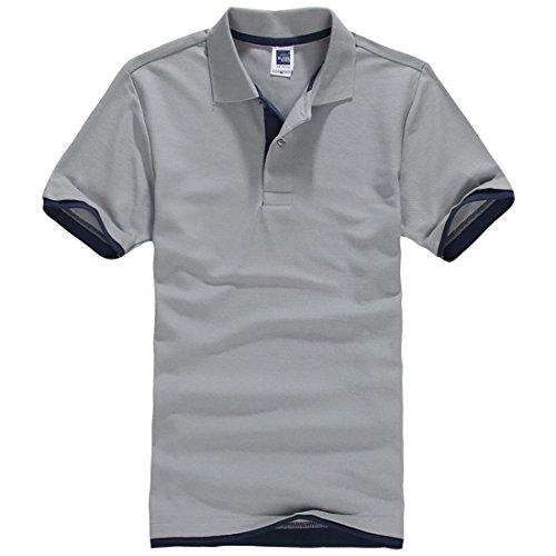 EZRAYメンズ ポロシャツ ポロ POLO無地半袖 レイヤード ゴルフ