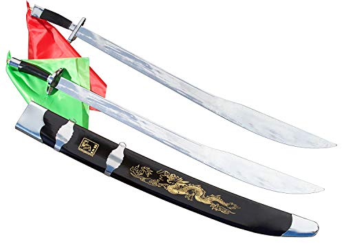KungfuDirect Wushu/Kung Fu Twin Broadsword (Shuang Dao) - 33 inches