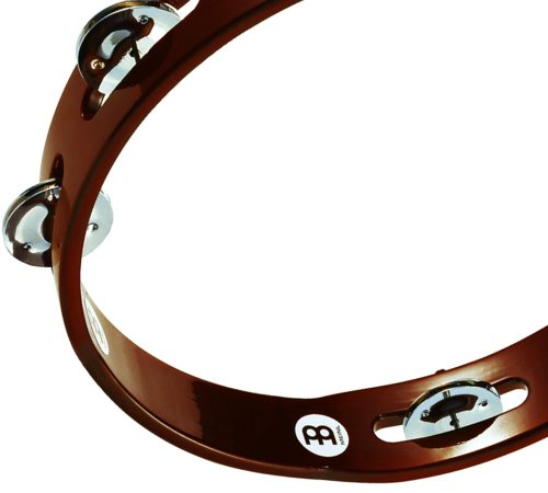 Meinl Percussion TA1AB Traditional 10-Inch Wood Tambourine with Single Row Steel Jingles by Meinl Percussion (Image #1)