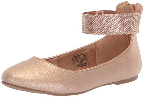 Nine West Girls' FLOYCEE Ballet Flat, Rose Gold