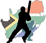 South Africa Map Cricket Player Home Decal Vinyl Sticker 13'' X 12''