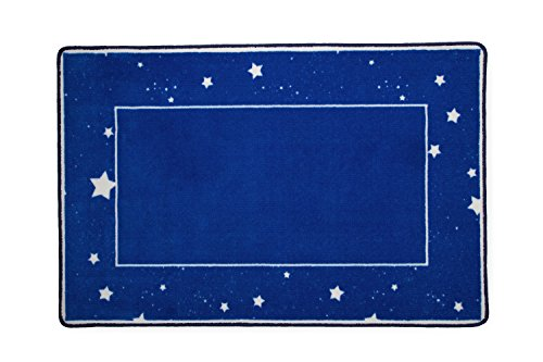 Kids Area Rug, Boys Starry Night | Children's Room Carpet | Delta Children | Blue with Stars