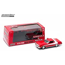 1976 FORD GRAN TORINO from the classic television show STARSKY AND HUTCH * Greenlight Hollywood * 2015 Greenlight Collectibles Limited Edition 1:43 Scale Die-Cast Vehicle & Custom Display Case ...