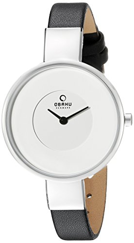 Obaku Women's V149LXCIRB Analog Display Analog Quartz Black Watch