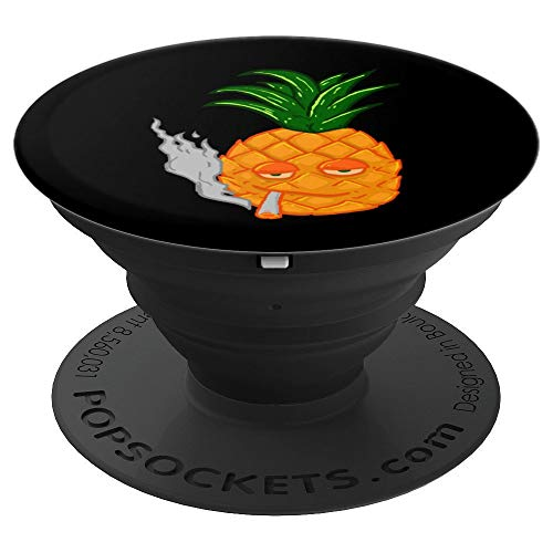 Orange Pineapple Smoking Weed Marijuana Pothead Stoner Gift - PopSockets Grip and Stand for Phones and Tablets (Best Gifts For A Pothead)