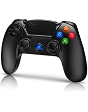 Gamory Wireless Controller for PS4 Playstation 4/Pro/Slim with Shining Buttons,Touch Panel,Speaker & Stereo Headset Jack,Dual Vibration,Motion Control,Remote Playstation 4 Controller Black