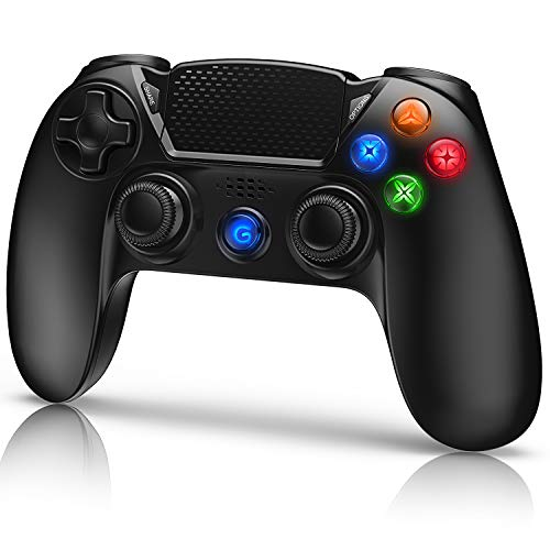 Gamory Controller per PS4,Controller Wireless Gamepad Joystick per Playstation 4/ PS4 Slim/ Pro/ PS3, Controller Touch Panel con Doppia Vibrazione a Sei Assi e Audio
