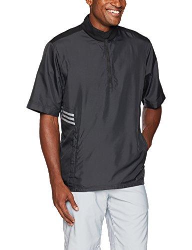adidas Golf Club Short Sleeve Wind Jacket, Black, X-Large