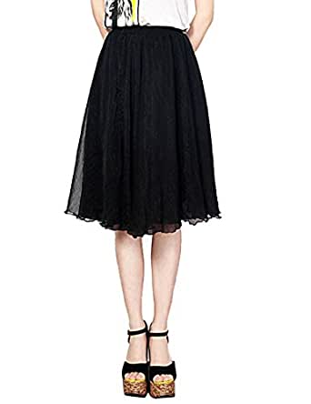 duraplast s skirts knee length chiffon maxi skirt