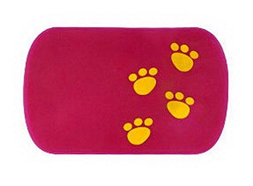 PANDA SUPERSTORE Lovely Footprint Anti Slip Mat