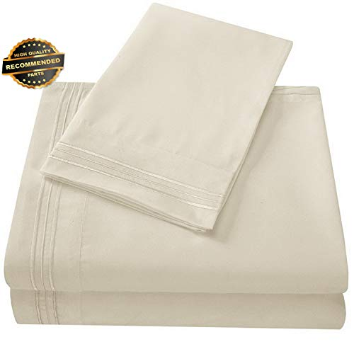 Gatton Premium New Bedding Sets 1800 Thread Count Soft Beige Sheets | Collection SHEESRONG-200114824 ()