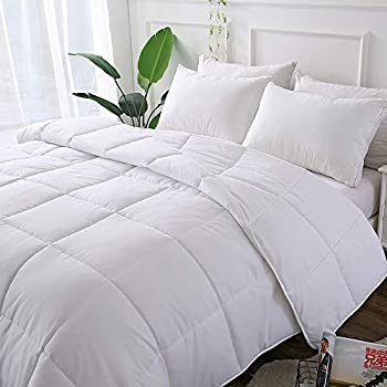 Decroom White Comforter,Down Alternative Quilted Duvet Insert King,Moisture-Wicking Treament,Light Weight and Soft for All Season King