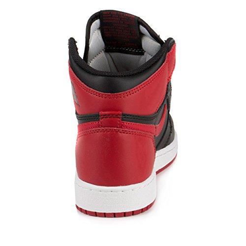 Zapatillas De Baloncesto Nike Hombres Air Jordan 1 Mid Negro / Varsity Rojo-blanco