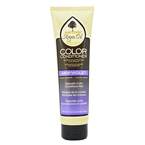 One N Only Argan Oil Condition Color Ash-Violet 5.2 Ounce (150ml) (Argan Oil Hair Color Medium Chocolate Brown)