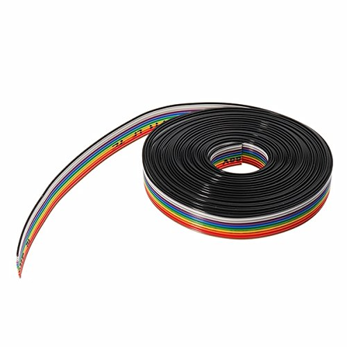 Pukido 5 Meters/Lot 10 Way 10 Pin Flat Color Rainbow Ribbon Rainbow Cable Wire 1.27mm Pitch by Pukido (Image #2)