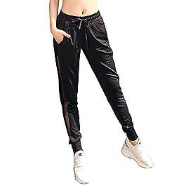 KnSam Sportswear Athletic Pants Polyester Spandex Mesh Body Yoga Pants