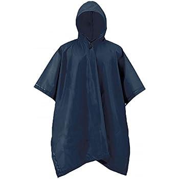 "ADULT RAIN PONCHO W// HOOD BLUE WATERPROOF BIG PONCHO 52/"" X 80/"" @@ MY OTHER ITEMS"