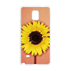 Generic Cell Phone Case For Galaxy Note 4 case N9100 case Blooming Sunflower Pattern