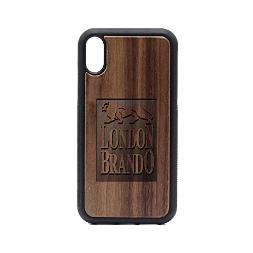 (London Brando - iPhone XR Case - Walnut Premium Slim & Lightweight Traveler Wooden Protective Phone Case - Unique, Stylish & Eco-Friendly - Designed for iPhone XR)