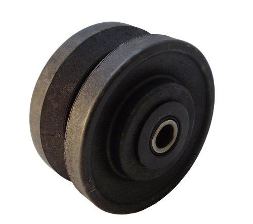 4-x-2-Glass-Filled-Nylon-V-Groove-Wheel-Roller-Bearing-800-lb-Capacity