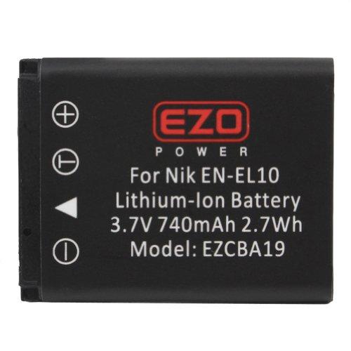 EZOPower EN-EL10 Compatible Battery + Battery Charger for Nikon CoolPix S200 / S210 / S220 / S230 / S3000 / S4000 / S500 / S510 / S520 / S570 / S60 / S600 / S660 / S700 / S1100pj Camera