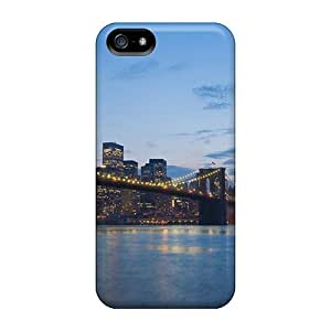New Style WonderwallOasis Hard For Ipod Touch 4 Phone Case Cover - Brooklyn Bridge At Dusk