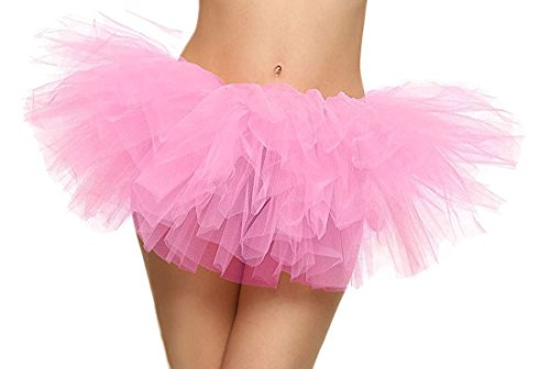 Tutu Retro 5 Layers Tulle Cosplay Costume Dance Tutu Skirt, Light Pink Tutu