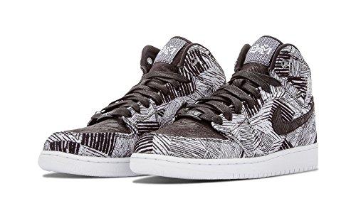 Nike Mädchen Air Jordan 1 Retro High BHM GG Laufschuhe, Weiß, Schwarz, Talla Weiß / Schwarz