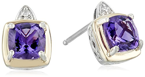 sg-sterling-silver-and-14k-yellow-gold-cushion-amethyst-with-diamond-accent-stud-earrings