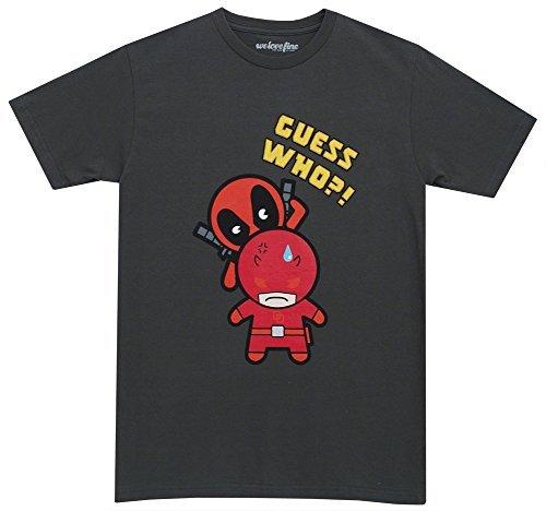 Deadpool Kawaii Guess Who Marvel Comics Mighty Fine Adult T-Shirt Tee